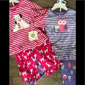 Little Me Girls Pajama Sets 2 Pc Lot Sz 24 Months
